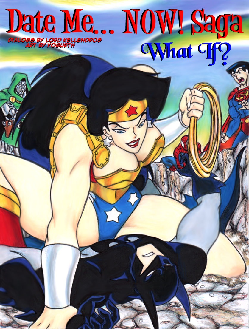 hentai woman superman wonder and Lady in black demon's souls
