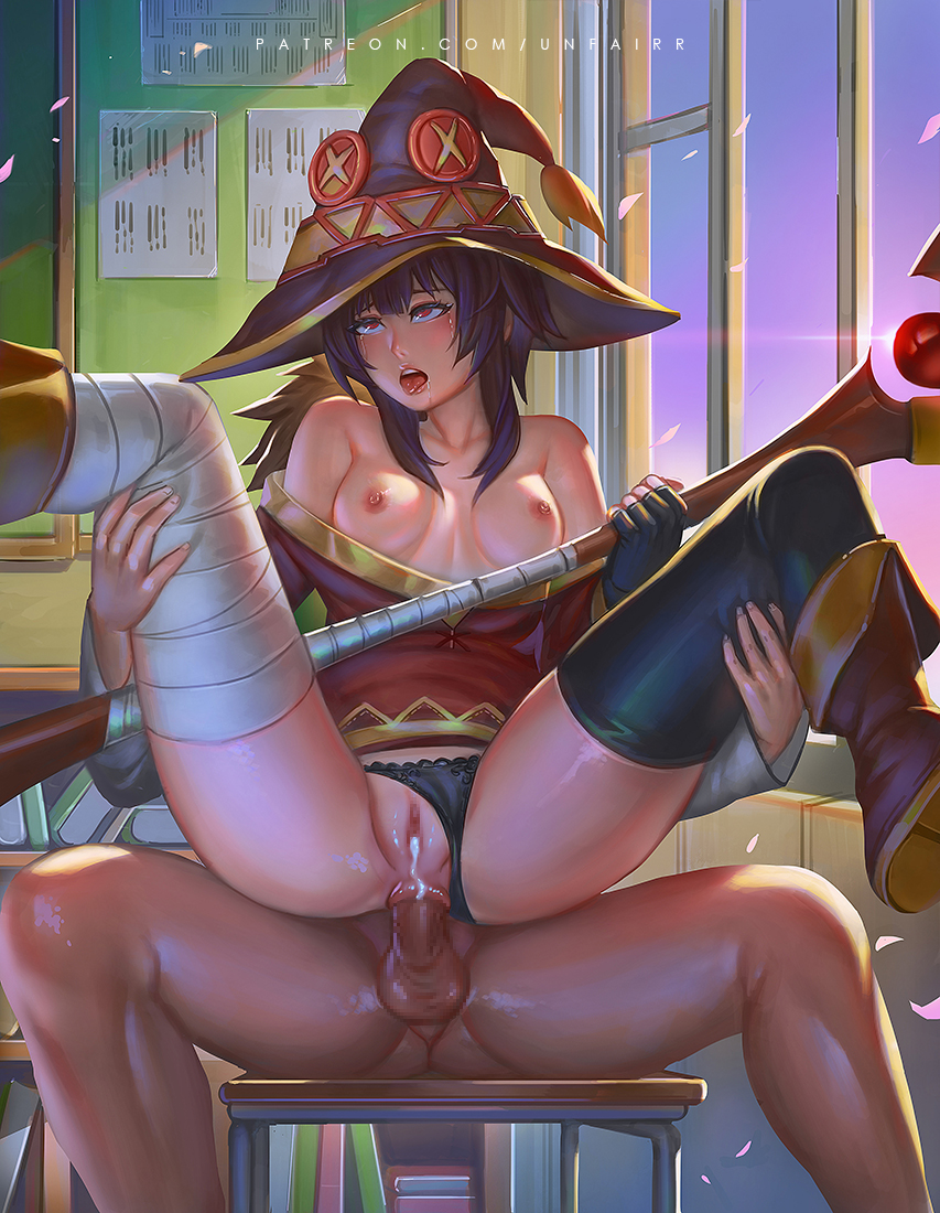 reverse chair cowgirl in a Amazing world of chi chi