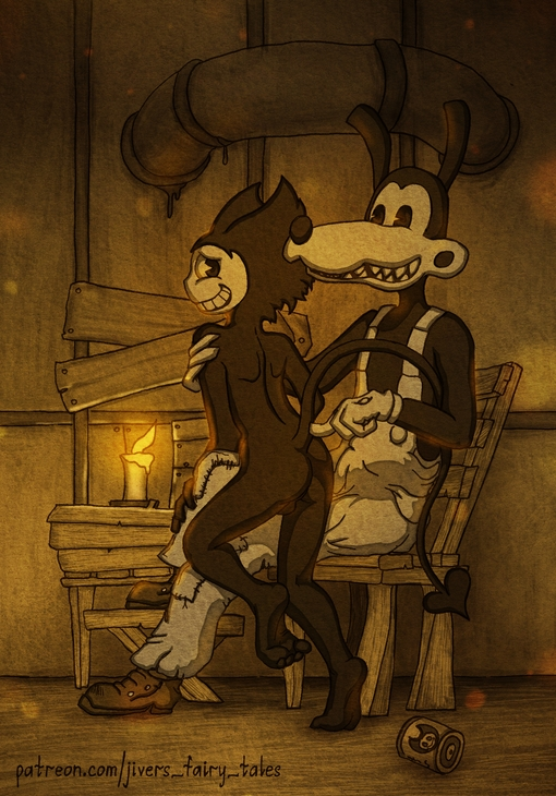 the bendy bendy fanart and ink machine Lubella, the witch of decay