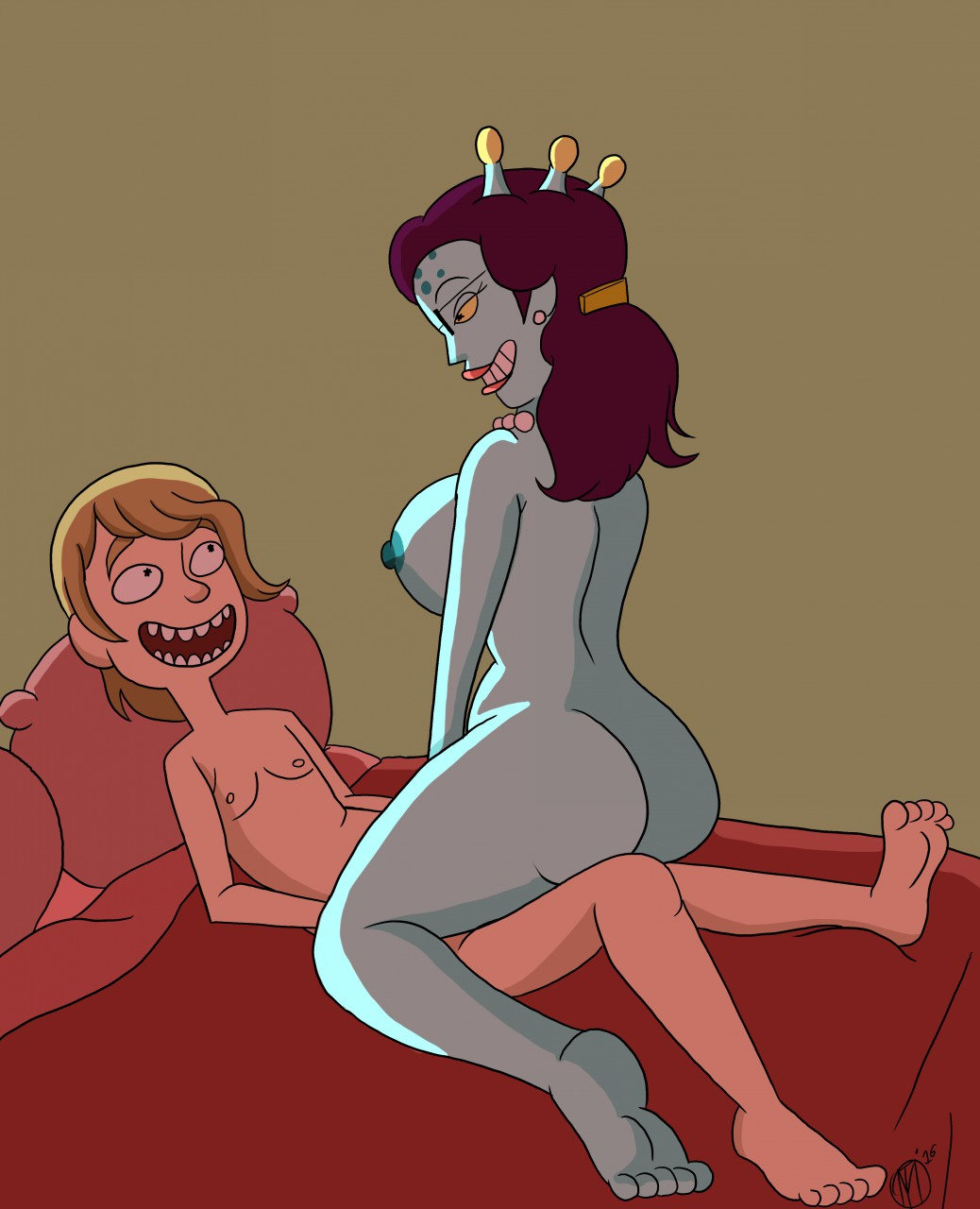 morty interstellar and stripper rick Five nights at freddy's female